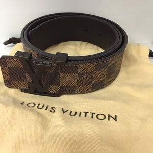 Louis Vuitton Damier Ebene Women Belt
